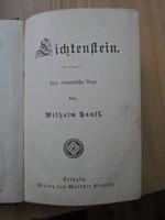 Wilhelm Hauss: Lichtenstein, eine romantische Sage, antik