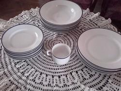 Antik Zsolnay 17 darabos étkészlet