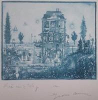 Gross Arnold -  Művésztelep 17 x 20 cm fakszimile
