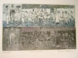 Gross Arnold - Lovasok 14 x 24 cm fakszimile