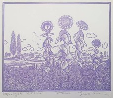 Gross Arnold - Napraforgók 20x23 cm faximile