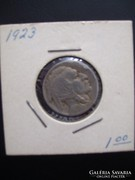 USA Five Cents 1923 Buffalo. (Bronz)