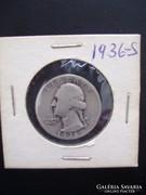 USA Quarter Dollar 1936-S ( Ezüst)