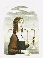 Artner Margit - Üveg csengő 10x 7.5 cm rézkarc