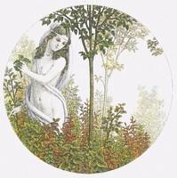 Artner Margit - Nyár 18.5 cm rézkarc