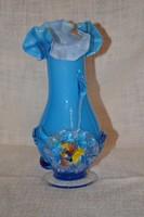 Fodros szájú héjalt üveg váza  ( DBZ 0054 )