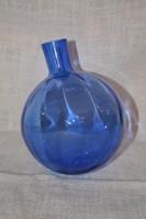 Anyagában kék színű belül bordázott rózsa gömb 02