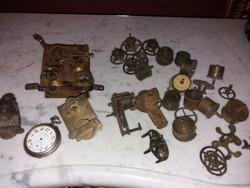 Nyugdíjas órásmester gyűjteményből - Szerkezetek, alkatrészek, zsebóra, egyben eladó