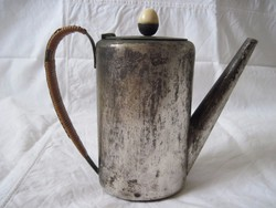 Art deco ezüstözött kávékiöntő