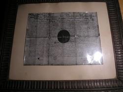 Nemesi címeres gótbetűs oklevél másolat