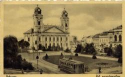 Debrecen, Református Nagytemplom, használt képeslap