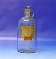 0N504 Régi illatszeres üveg 18.5 cm