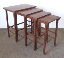 0N581 Régi csúsztatható kisasztal 4 darab