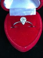 Designer által tervezett, 18k fehér ARANY, 0,3ct. gyémánt köves EXKLUSÍV eljegyzési GYŰRŰ!