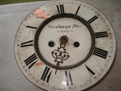 Kétsúlyos óraszerkezet Kleinberger Mór ( hiányos)