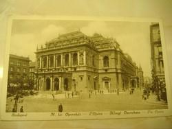 BUDAPEST, M. kir. Operaház, antik képeslap
