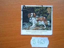 ANGOL ANGLIA 22 P 1991 Festmény,King Charles spániel B465