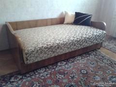 Art deco ágy, fotel és ülőke az 1930-as évek végéről