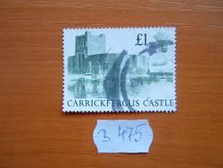 """ANGOL ANGLIA 1 FONT 1988 Brit várak és kastélyok """"Carrickfergus Castle"""" B475"""