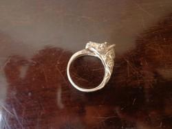 Lófejes ezüst gyűrű