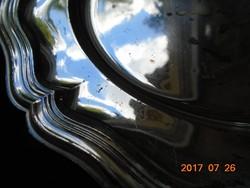 Barokk antik ezüstözött tál-25,5 cm