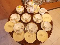 Akció! Vitrin állapotú 3-as Herendi  Viktória szett -mokka, tea, étkészlet- eladó.