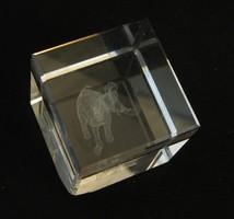 Elefántos üveg levélnehezék