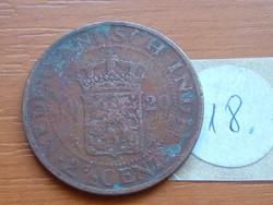 HOLLAND INDIA 2-1/2 CENT 1920 18.