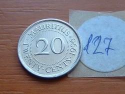 MAURITIUS 20 CENT 1996 127.
