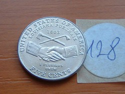 USA 5 CENT 2004 D LOUISIANA 1803  128.