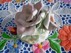 Gyönyörű jelzett porcelán dupla rózsa virág 4.