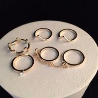 6db 14K Anyozott, új,  divatos gyűrű