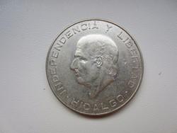 1956 Mexikó 5 peso ezüst érme 28,887g 0,900AG Hidalgo