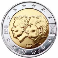 Belgium 2 Euro emlék pénzérme 2005 Bu