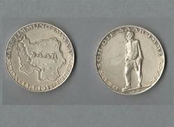 Német ezüstérem Saar vidék 1935