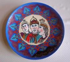 Mitterteich Bavaria porcelán fali tál, dísztányér