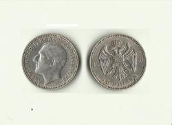 1931 10 Dínár  ezüst Jugoszlávia I.Sándor