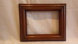 Antik fa képkeret , falc 17x23 cm