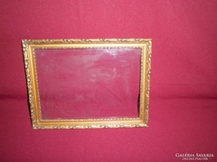 Antik aranyozott képkeret, üveglappal