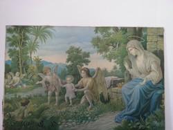 Szűz Mária a kis Jézussal, angyalok körében
