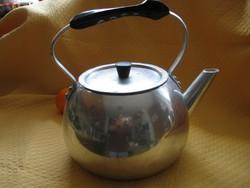 Nagy retro alumínium teás kanna, vízforraló