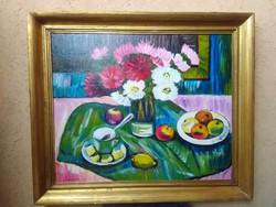 Schéner Mihály festmény, képcsarnokos