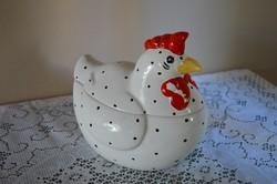 Tojás Tartó Tyúk porcelán figura/ tál