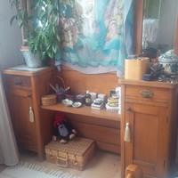 Szecessziós fésülködő szekrény