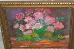 Baranyó S. szignózott festmény