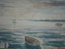 Orosz László (1928-) : Naplemente (Balaton)