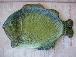 Hatalmas,nagyon ritka antik Gránit halas tál,hal alakú tál,kínáló