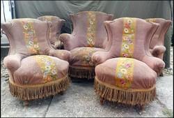 Antik eredeti állapotú Bécsi barokk fotel garnitúra