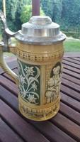 Antik Sitzendorf Porcelán Korsó