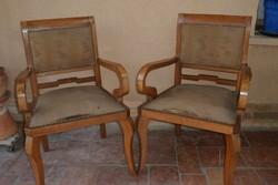 Antik epedás, karfás szék